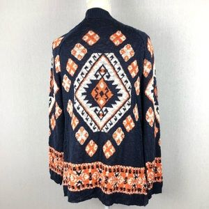 Flying Tomato Printed Acrylic Cardigan